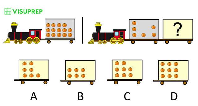 cogat test prep grade 2 number puzzles train question