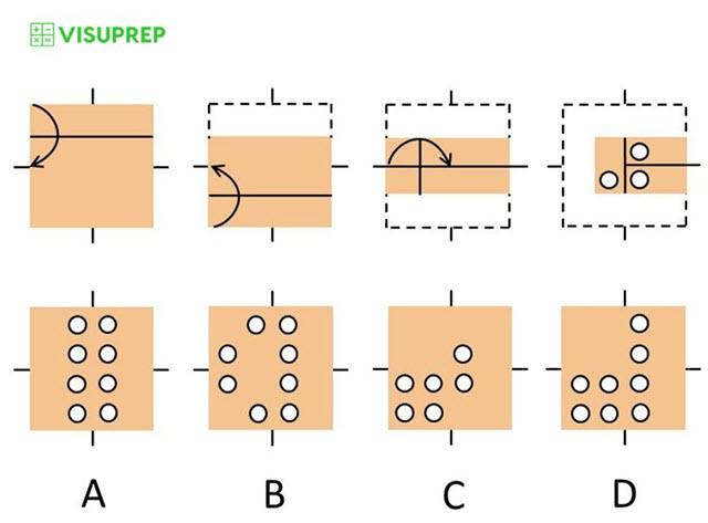 cogat test prep grade 2 paper folding