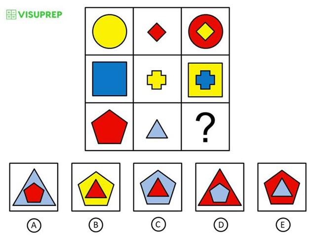 olsat test prep grade 2 level c pattern matrix